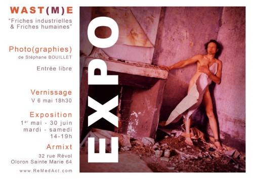 Exposition WAST(M)E | Stéphane Bouillet | Flyer